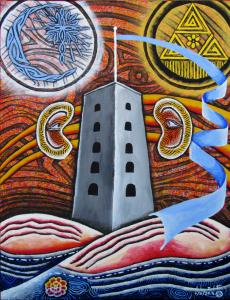 New Painting Release - Tower And Amoebas